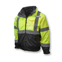 Radians SJ210B Three-in-One Deluxe High Visibility Bomber Jacket