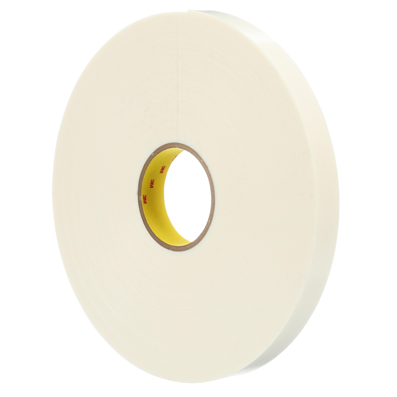 3M™ Double Coated Polyethylene Foam Tape 4466W, White, 54 in x 36 Yds, 62 mil, 1 roll per case