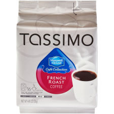 Maxwell House Café Collection French Roast Coffee T-Discs for Tassimo Brewing System, 16 count Wrapper