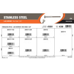 "Stainless Steel Lag Screws Assortment (3/8"" Hex Head)"