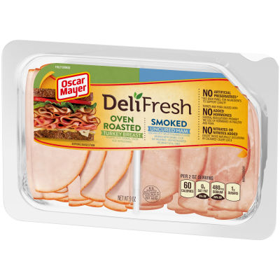 Oscar Mayer Deli Fresh Oven Roasted Turkey Breast & Smoked Ham Combo 9 oz Tray