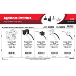 Appliance Switches Assortment (Range Switch & Range Outlets)
