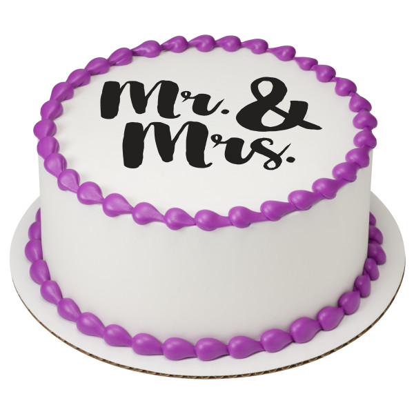 Mr. & Mrs. PhotoCake® Edible Image®