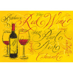 "Aluminum Red Wine Sign 10"" x 14"""