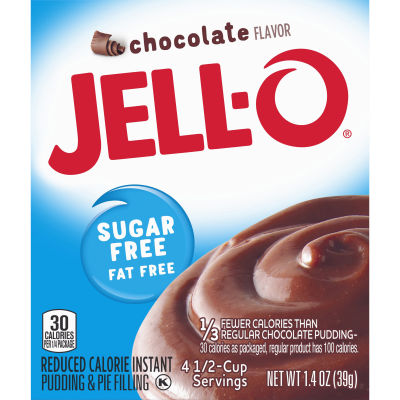 Jell-O Instant Sugar-Free Fat-Free Chocolate Pudding & Pie Filling 1.4 oz Box