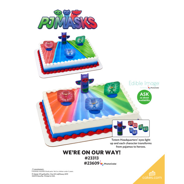 PJ Masks We're On Our Way! DecoSet® The Magic of Cakes® Page