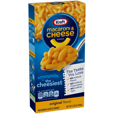 Kraft Original Flavor Macaroni & Cheese Dinner, 7.25 oz Boxes