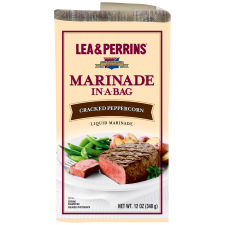 Lea & Perrins Cracked Peppercorn Marinade, 12 oz Pouch