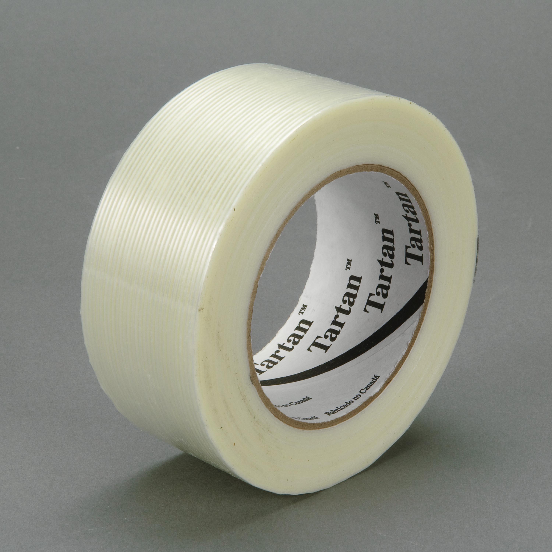 Tartan™ Filament Tape 8934, Clear, 72 mm x 55 m, 4 mil, 12 rolls per case