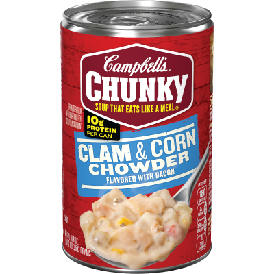 Clam & Corn Chowder with Bacon