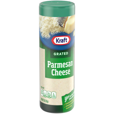 Kraft 100% Grated Parmesan Cheese Shaker, 3 oz Bottle