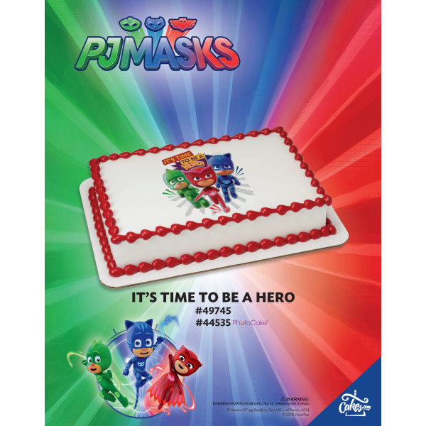 PJ Masks It's Time to be a Hero PhotoCake®/Edible Image® The Magic of Cakes® Page
