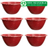 Confetti 24 ounce Soup Bowl, Brick, 6-piece set slideshow image 1