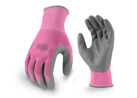 BLACK+DECKER BD512 Pink Ladies Foam Nitrile Grip Glove