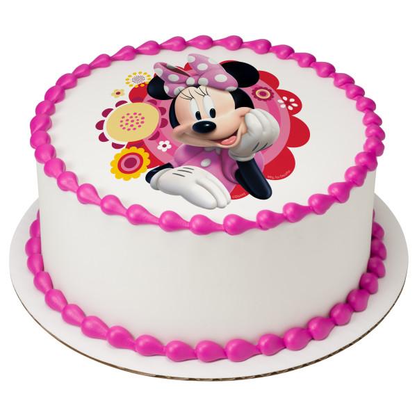 Minnie Dots & Daisies PhotoCake® Edible Image®