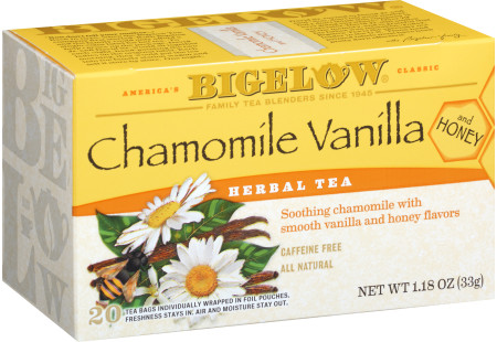 Chamomile Vanilla Honey Herbal Tea - Case of 6 boxes- total of 120 tea bags
