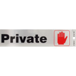 Private Adhesive Sign