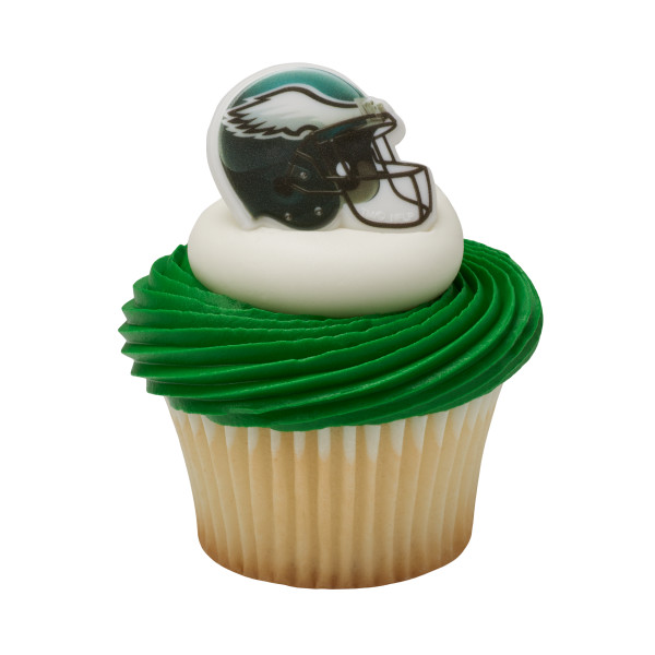 NFL Team Helmet Cupcake Rings