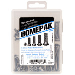 HOMEPAK Oval Head Phillips Machine Screws Assortment
