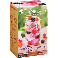 Blackberry Raspberry Hibiscus Cold Water Infusion Caffeine Free Herbal Tea 108 TB (case of 6 boxes)