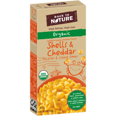 Back to Nature Organic Shells & Cheddar Macaroni & Cheese Dinner 6 oz Box