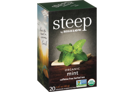 mint herbal tea - case of 6 boxes - total of 120 teabags