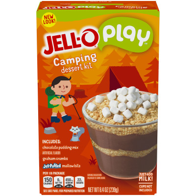 Jell-O Creations S'mores Cups Dessert Kit, 8.4 oz Box