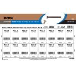 Stainless Steel Phillips Flat Metric Machine Screws Assortment (M3-0.50 thru M6-1.00)