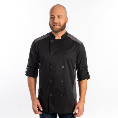 Unisex Slim Long Sleeve Quick Cool Stretch Chef Coat-Chefwear