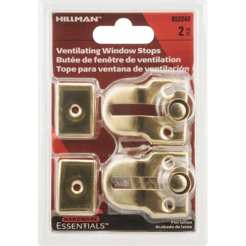 Brass Finish Window Vent Lock