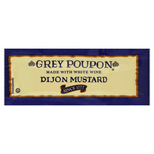 GREY POUPON Single Serve Dijon Mustard, 0.25 oz. Packets (Pack of 200) image