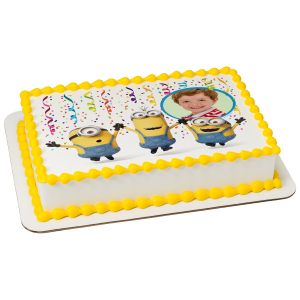 Minions™ Party! PhotoCake® Edible Image® Frame