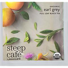 steep Café Organic Earl Grey Tea - Box of 50 pyramid tea bags