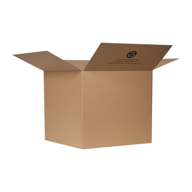 Duck® Brand Kraft Box - Brown, 18 in. x 18 in. x 16 in. Image