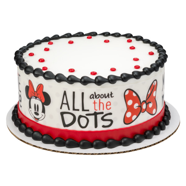 Mickey Mouse & Friends Minnie Dots! PhotoCake® Edible Image® Strips