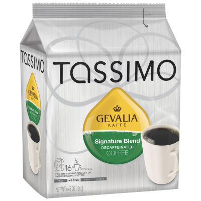 Gevalia Signature Blend Decaf Coffee T-Disc for Tassimo Brewing System, 16 count