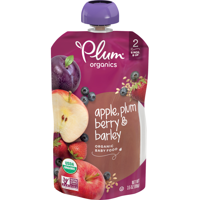 Apple, Plum, Berry & Barley Baby Food