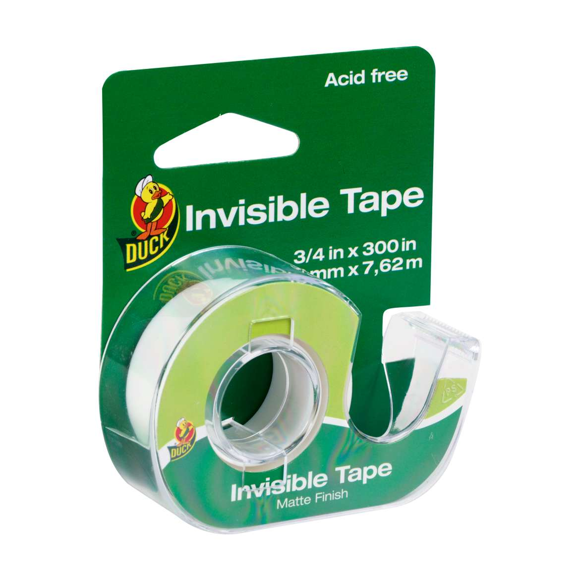 Duck® Brand Invisible Matte Acetate Tape  - Clear, .75 in. x 300 in. Image
