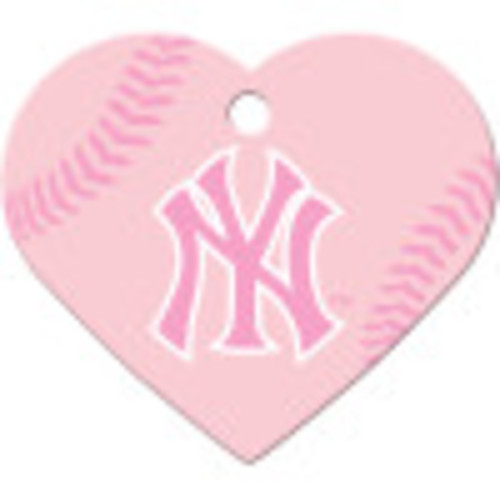 New York Yankees Pink Large Heart Quick-Tag 5 Pack