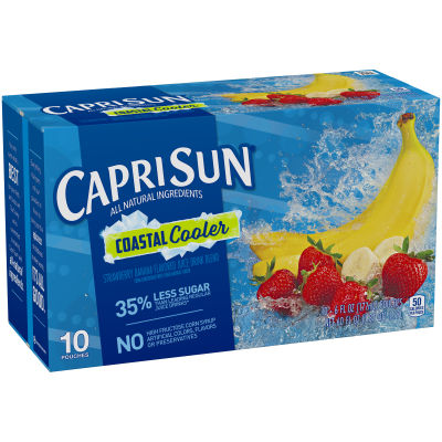 Capri Sun Coastal Cooler Juice Drink 10 - 6 fl oz Pouches