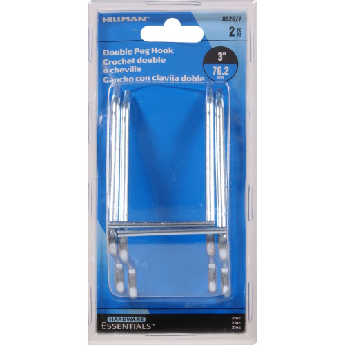 Hardware Essentials Pegboard Double Hook 3