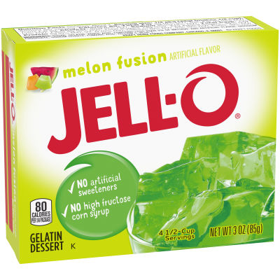 Jell-O Melon Fusion Gelatin Mix, 3 oz Box