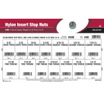 "Zinc-plated Nylon Insert Stop Nuts Assortment (#6-32 thru 1/2""-13 Fine & Coarse Threads)"