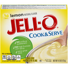 Jell-O Lemon Cook & Serve Pudding & Pie Filling 4.3 oz Box