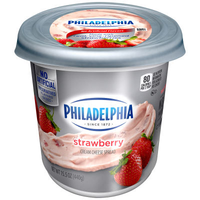 Philadelphia Strawberry Cream Cheese Spread 15.5 oz Tub
