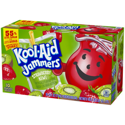 Kool-Aid Jammers Strawberry Kiwi Ready-to-Drink Soft Drink 10 - 6 fl oz Packets