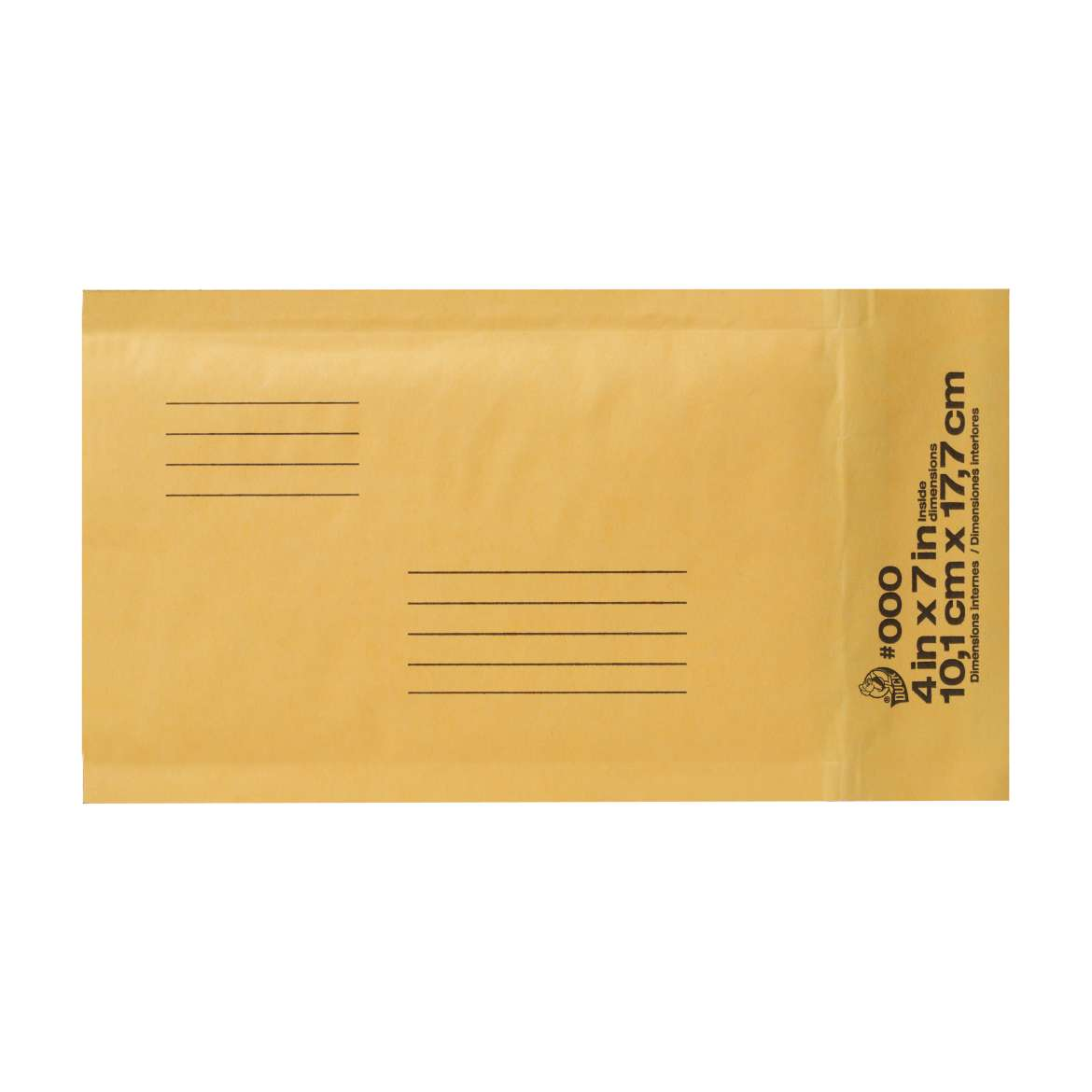 Duck® Brand Kraft Bubble Mailers - Manila, 4 in. x 7 in. Image