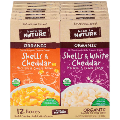 Back to Nature Organic Macaroni & Cheese Dinner Variety Pack 12 - 6 oz Shrink Wrapped