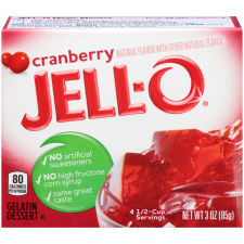 Jell-O Cranberry Gelatin Mix 3 oz Box