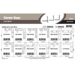 "Cast-metal Corner Keys Assortment (1/5"" thru 4/5"" Width)"